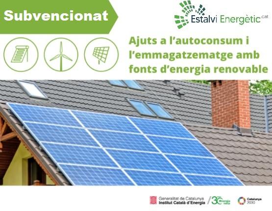ajuts a l'autoconsum i emmagatzematge de fonts d'energia renovables subviencions generalitat plaques solars
